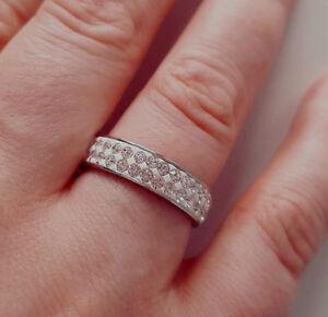 "Fashion Jewellery Ring Stainless Steel "" Diamond "" Rhinestones Color Silver"