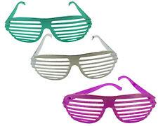 12x Partybrille Atzenbrille Shutter Shades Atzen Party Gitter Brille Karneval