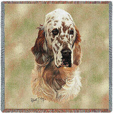 Pure Country Weavers English Setter dog Small Blanket Afghan Throw Mother's Day