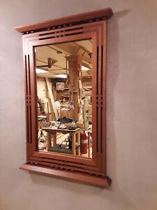 Handcrafted Arts & Crafts /Prairie Style Mirror Walnut & Black Cherry