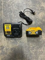 New DEWALT 20V 20 VOLT XR Lithium Ion 4.0 AH DCB204 & DCB115 Charger Combo Set