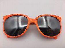 Neon Orange w/ Black Spatter PatternCateye Sunglasses Mirrored