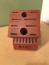 New Nwob Cutco Homemaker 18 Slot Wood Knife Block Holder Oak