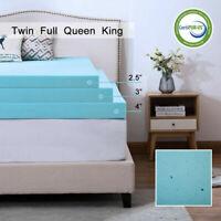 2'''/3'' Comfort Gel Memory Foam Mattress Topper Dot- Queen King Twin Full USA