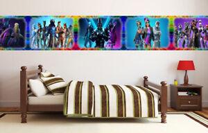 Battle Royale Game Wallpaper Border Fortnite Self Adhesive Children Bedroom