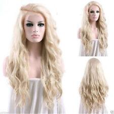 Hot Women Heat Resistant Long Light Blonde Body Wavy Cosplay Full Hair Wig Wigs