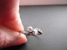 Q126 Ladies old rose cut 0.60 Diamond engagement ring size P