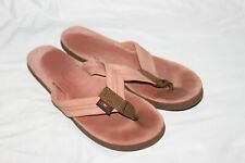 "RAINBOW Sandals Flip Flops Pink Regular Straps Womens Size 8/9? 10.25"" Leather"