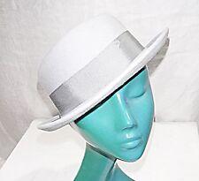'VINTAGE HEADWAYS BY ALBERT' BOWLER HAT LIGHT GREY FELT SMART COMFY & VERSATILE