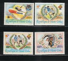 BURKINA FASO 1983  SC C273-76   SOCCER  FOOTBALL  SPACE DIANA WEDDING  USSUE