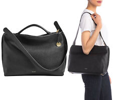 $295 Skagen Mikkeline Satchel Women's Leather Shoulder Bag Purse Handbag Black