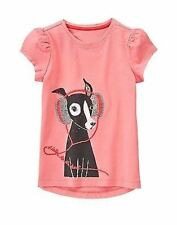 Gymboree Girls Play By Heart  Pink Top Dog w/ Headphones Size 4