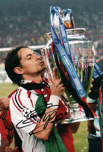 Filippo Inzaghi, AC Milan & Italy legend, signed 12x8 inch photo. COA.