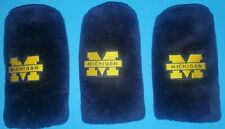 UNIVERSITY OF MICHIGAN GOLF CLUB COVERS (3) CHANGEABLE PATCHS