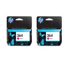 2x Original Genuine HP 364 Magenta Ink Cartridge for HP Photosmart 7520 Printer