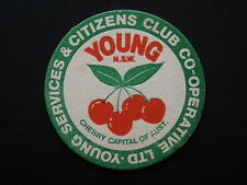 YOUNG SERVICES & CITIZENS CLUB CO-OPERATIVE LTD CHERRY CAPITAL OF AUST. COASTER
