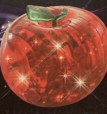 Red Apple 3D Cristal 45 pièce puzzle avec flash DEL Stay Home Stay Safe