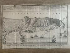 More details for 1738 gibraltar city plan original antique map by isaac basire