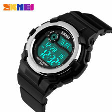 Silicone/Rubber Case Digital Wristwatches with 12-Hour Dial