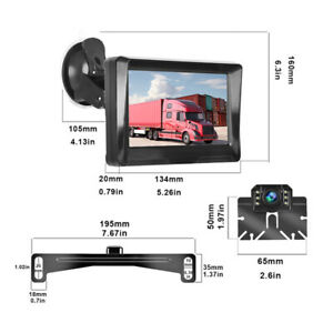 "5"" 1080P Digital Display Monitor Car Rear View Backup Reverse Camera Universal"
