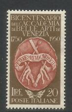 Italy 1950 Academy of Fine Arts 200th Anniversary--Attractive Topical (547) MH