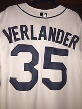 Justin Verlander Detroit Tigers Majestic Authentic Jersey Home White Size 48