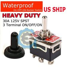 Toggle Switch Onoffon Heavy Duty 20a 125v Spdt 3 Terminal Car Waterproof Boot