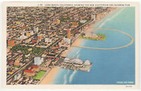 California CA Long Beach Auditorium Rainbow Pier Postcard Old Vintage Card View