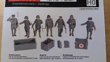 Artitec 80001 WW2 German Railway Staff and Equipment resin Kit 1:87 Scale (PL)