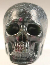 2.0 In Genuine Ruby Zoisite Carved Crystal Skull, Realistic,Crystal Healing #923