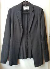 Scanlan & Theodore Jacket Coat Size AUS 10 US 6 M Black Crepe HTF Style