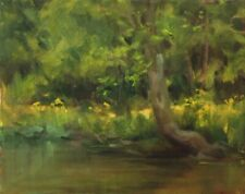SPRING CREEK # 2  pristine brook oil painting by Margaret Aycock Oklahoma
