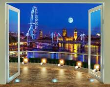 London Skyline bei Nacht Fototapete Wandtattoo Sticker Aufkleber