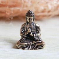 Lucky Chinese Buddhism Pure Copper Brass Bronze Sakyamuni Buddha Small Statue