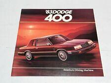1983 DODGE 400 SERIES SALES BROCHURE CATALOG IN EXCELLENT CONDITION
