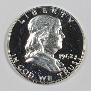 1962-P Franklin 90% Silver Half Dollar Proof 189890B