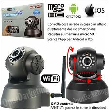 TELECAMERA DI SORVEGLIANZA WIFI VIDEO IP CAMERA WIRELESS MOTORIZZATA INTERNET
