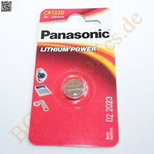 2 x CR1220 Lithium Power Battery 2mm 12.5mm 3V  Panasonic Knopfzelle 2pcs