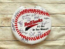 Fargo Moorhead Redhawks FM REDHAWKS Seat Cushion Vintage Signed Chris Coste