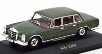 MB Mercedes Benz 600 / W 100 - Pine green - MB Dealer 1:43