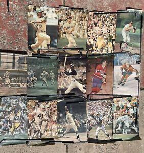 Vintage Renselaar Poster Lot Bundle 1960s/70s NFL NHL MLB Sport Illustrated