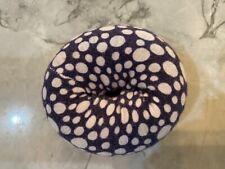 """Hair Donut Bun Maker Ring Style 31/4"""" Navy and White Donut"""
