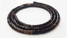 Black Pen Shell Heishi Beads (4 - 5mm / 24 Inches Strand)