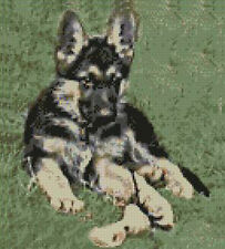 "German Shepherd Counted Cross Stitch Kit 9"" x 10"" D2138"
