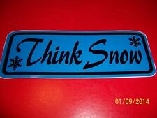 "3"" X 8"" Think Snow (NEW Powder Blue and Black Vinyl Sticker).....L@@K"
