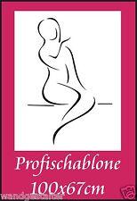 Schablone, Wandschablone, Wandschablonen, Malerschablone, Modernart, Frauenakt 4