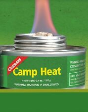 2 CANS CAMP HEAT, STERNO TYPE EMERGENCY STOVE FUEL 4-6 HR BURN, RECLOSEABLE