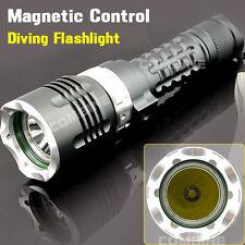 Scuba Diving 1800Lm Cree XM-L T6 LED 100m Waterproof 18650 Flashlight Torch Lamp