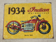 "Indian Motorcycle 12""x 16"" Vintage Style Metal Signs Harley Davidson Bike Scout"