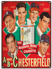 1947 Chesterfield DiMaggio Advertising Metal Reproduction Sign 9x12 60080